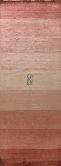 Striped Gabbeh Kashkoli Oriental Runner Rug 8x21