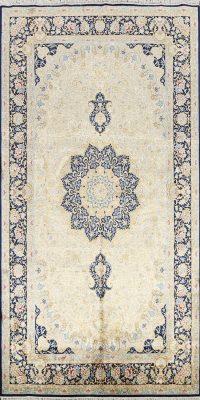 100% Silk Floral Qum Persian Area Rug 5x9