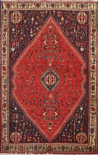 100% Vegetable Dye Abadeh Persian Area Rug 3x5