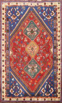 100% Vegetable Dye Abadeh Nafar Persian Area Rug 4x5