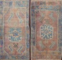 Set of 2 Vegetable Dye Oushak Oriental Area Rugs 2x3