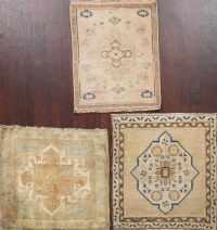 Set of 3 Geometric Oushak Oriental Area Rugs 2x2