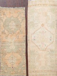 Set of 2 Geometric Anatolian Oriental Area Rugs 1x3