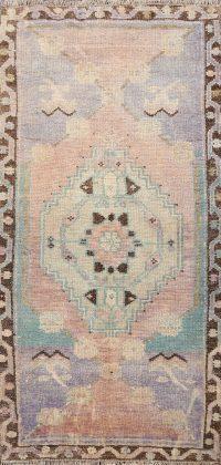 Geometric Oushak Oriental Area Rug 2x3