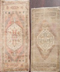 Set of 2 Vegetable Dye Oushak Oriental Area Rugs 2x4