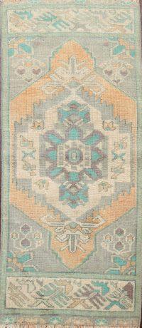 Geometric Oushak Oriental Area Rug 1x3