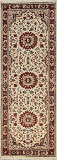 Vegetable Dye Floral Royal Tabriz Oriental Runner Rug 3x8